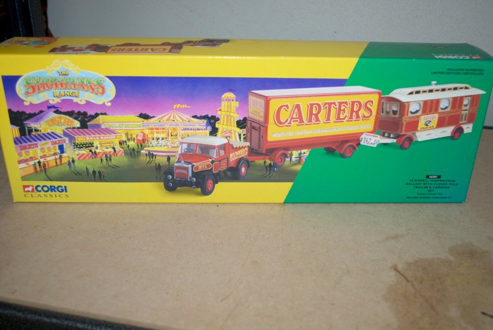 Corgi Showmans Scammell Highwayman Ballast & Caravan Set Carters Steam 16501