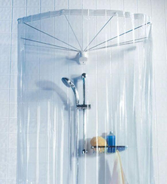 Spirella Ombrella Clear 1004436 Telaio a Ombrello per Doccia, con Tenda...