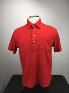 Orvis-Mens-Shirt-Cotton-Red-Short-Sleeve-Size-Large