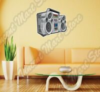 Boom Box Audio Player Cd Cassette Cartoon Wall Sticker Interior Decor 25x20