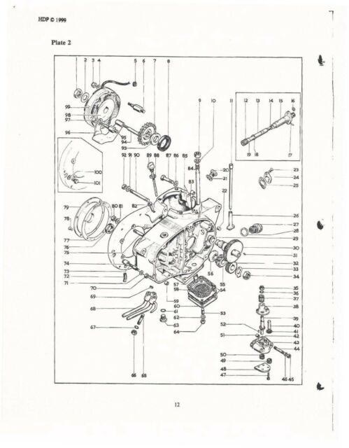 Bsa Parts Manual Book B 25 Starfire 1970 For Sale Online