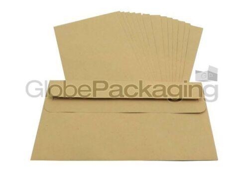 2000 x DL Plain Manilla Self Seal Brown Envelopes 110x220mm SS 85gsm *OFFER*
