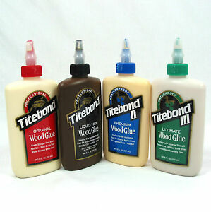 Titebond-Legno-COLLE-8fl-OZ-LIQUIDO-pelle-Originale-Titebond-ll-Titebond-lll