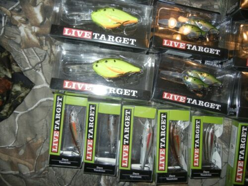LOT OF 10 Koppers Live Target Crankbait Lures assorted sizes colors LOT # 2