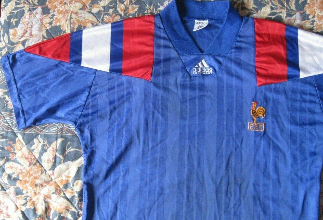 Maillot Shirt Camiseta Trikot FRANCE Francia Adidas Season 1994 Dimensione 4042 XL