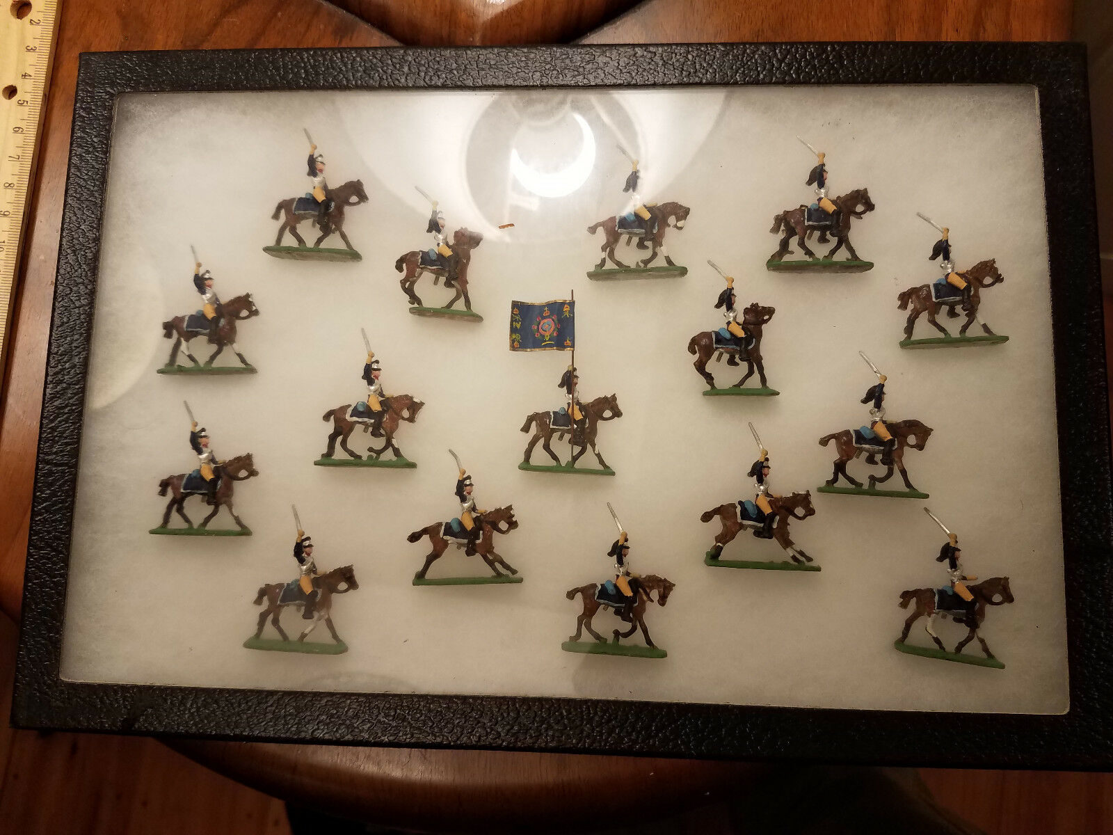 Painted Scruby 20mm 1 Inch French Cuirassier 16 Pieces With Case