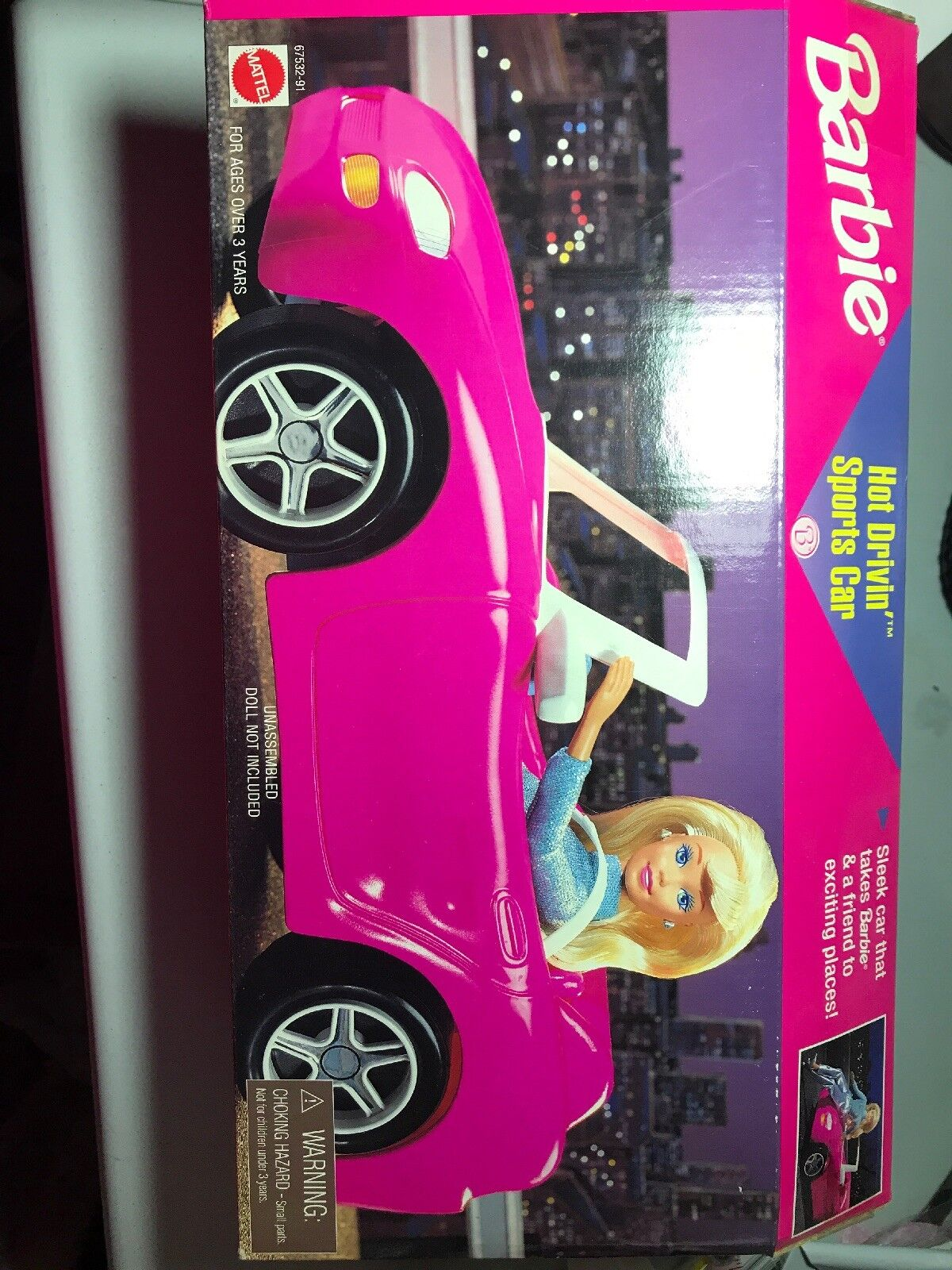 Barbie Hot Drivin' SPORTS CAR Congreenible Vehicle (1996 Mattel) PINK