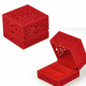 Square-Velvet-Ring-Box-Jewelry-Hollow-Boxes-Display-Holder-Case-Gift-Present