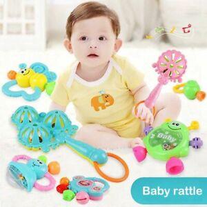 Set-von-7-Baby-Beissring-Rassel-Baby-Rassel-Neugeborenen-0-1-Lernspielzeug-Ra-VG
