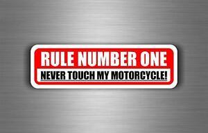 Sticker-car-motorcycle-helmet-decal-chopper-warning-biker-rule-number-one