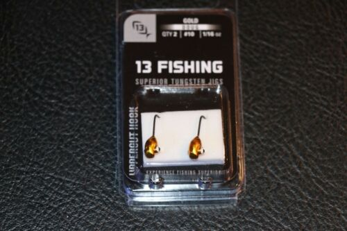 Pack of 2 #10 1//16 oz Hook Ice Fishing Jig 13 Fishing Doug Jig Gold