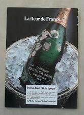 """E220 - Advertising Pubblicità - 1986 - PERRIER JOUET """"BELLE EPOQUE"""" CHAMPAGNE"""