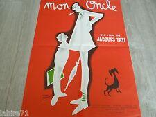 jacques tati : MON ONCLE  ! ( mr. hulot ) my uncle affiche cinema pierre etaix