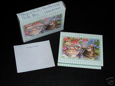 "DEBBIE COOK /""DOGS /& CATS GARDENING NOTE BOX/"" PURRFECT!!"