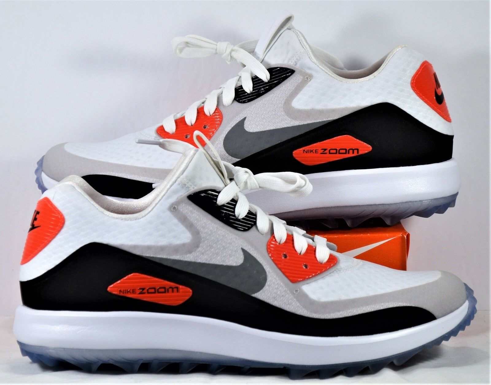 Nike Air Zoom 90 IT Infrared White & Grey Rory Mcilroy Golf Sz 8 NEW 844569 101