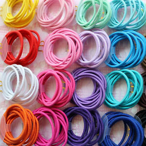 100Pcs-Kids-Girl-Elastic-Hair-Bands-Ponytail-Holder-Bobbles-Head-Rope-Ties