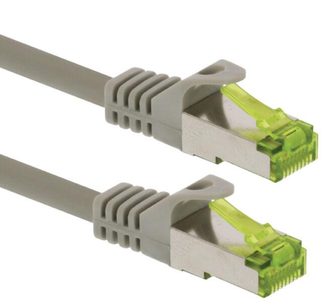 Ethernet CAT 7 LAN Network Cable Patch Lead RJ45 S/FTP PIMF Double Shielded lot
