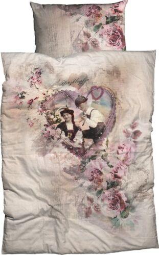 Casatex ropa de cama palpitaciones corazón amor romance Rosé satén impresión digital