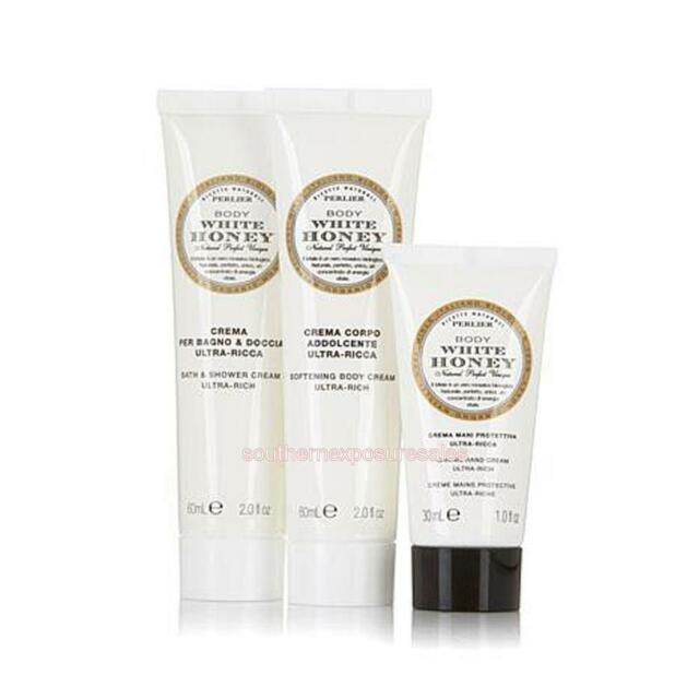 Perlier White Honey 3 Piece BathShower Cream,Hand Cream,Body Cream