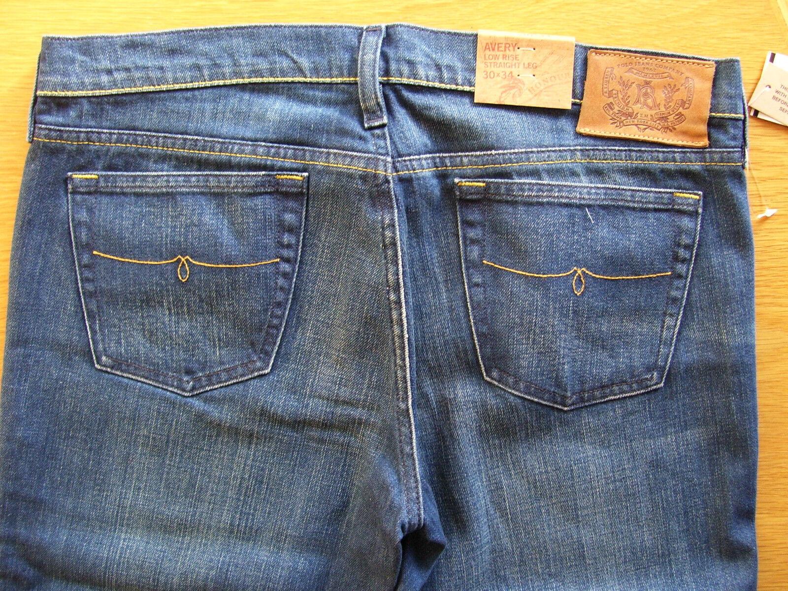 Polo by Ralph Lauren Damen Jeans Hose Avery Avery Avery blau used wash W29 L34 neu d30af1