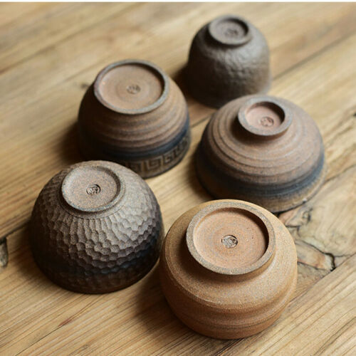 Chinese ceramic tea cup crude pottery kungfu cup of tea classic style on sales
