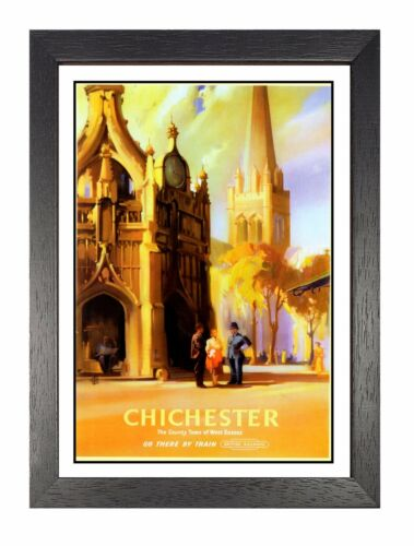 Chichester 3 Adventure Travel Holiday Beautiful View Poster West Sussex Advert