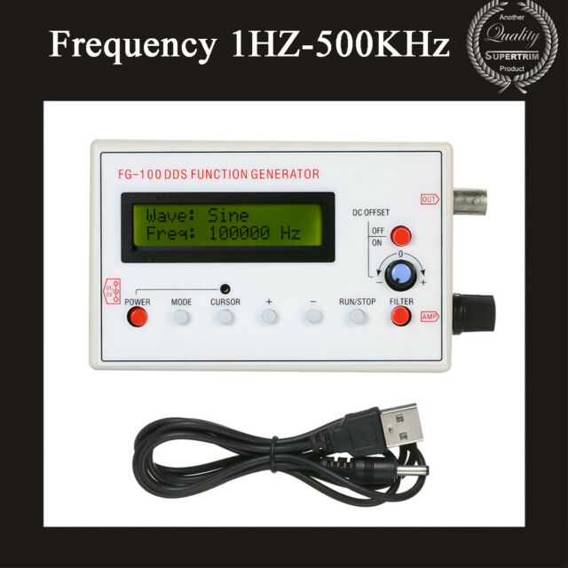 FG-100DDS Function Signal Generator Frequency 1-500KHz Sine+Triangle+Square Wave