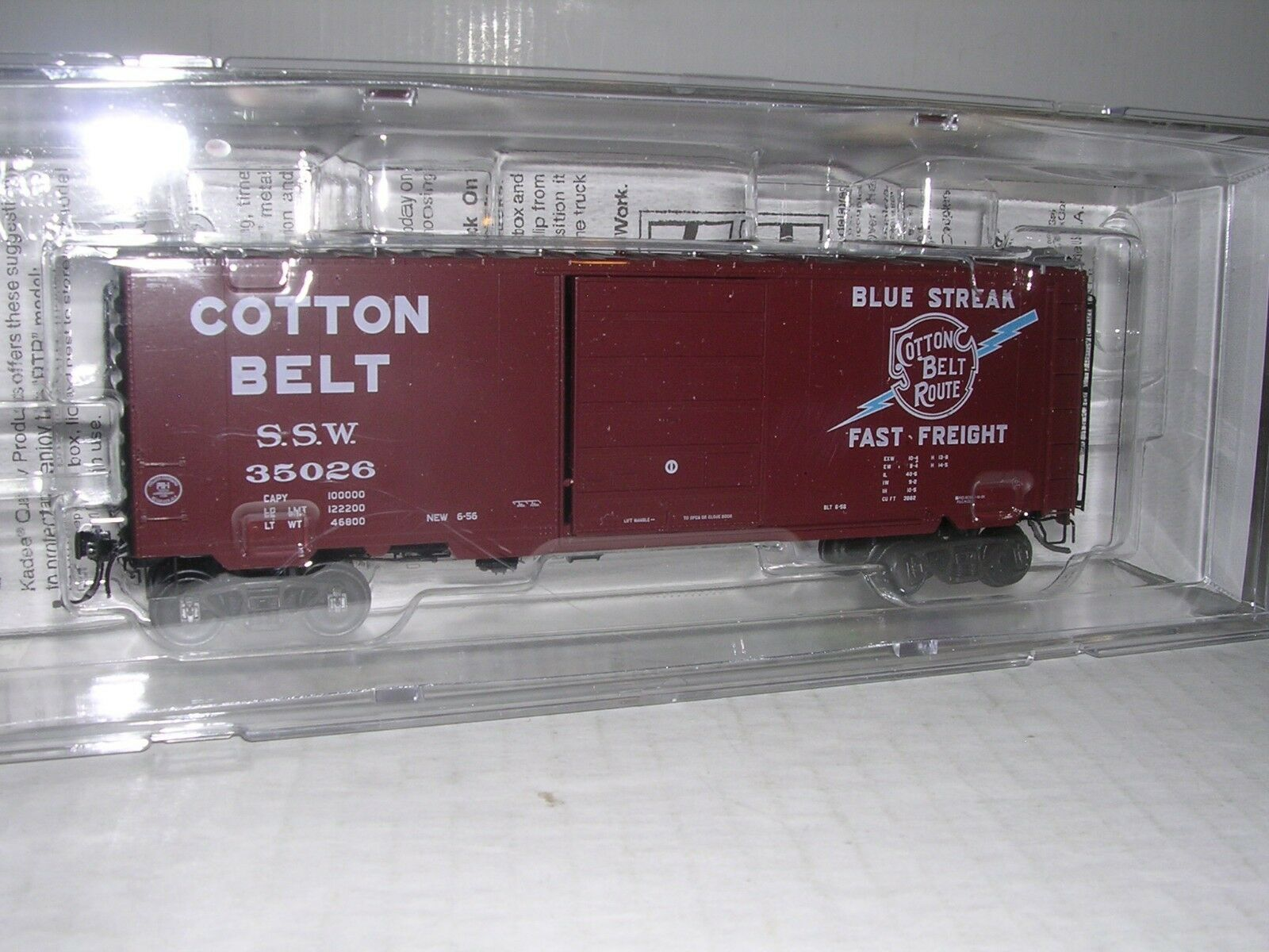 KADEE S.S.W.Cotton Belt 40' PS-1 Box Car H.O.Scale 1 87