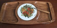 """vtg MCM Goodwood Cheese Cutting Board  With Cheese Knife 16"""" x 8 1/2"""" JAPAN"""