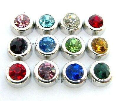 100pcs wholesale Birthstone  Floating Charms Fits Living  Lockets FC181