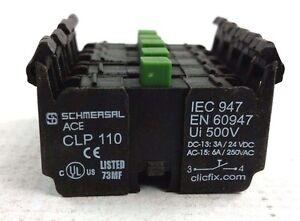 Schmersal-CLP-110-Contact-Block-NO-6A-250VAC-IEC-947-EN-60947-Box-of-5-NEW