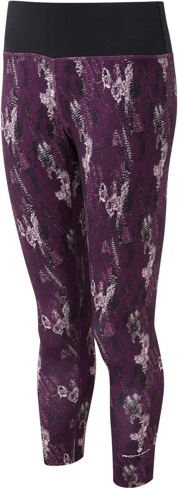 Ronhill Momentum Womens 3 4 Capri Running Tights - Purple