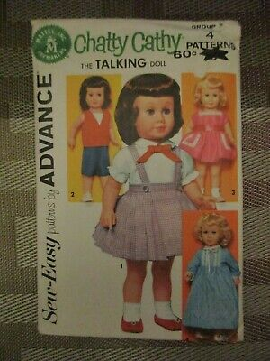"""Robe 24/"""" Charmin Chatty Cathy Doll Clothes Vintage Pattern~ Dress Nightgown"""