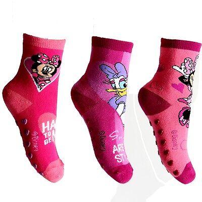 Minnie Mouse ABS-Socken Hausschuhe Hüttenschuhe Socken Strümpfe Disney Maus
