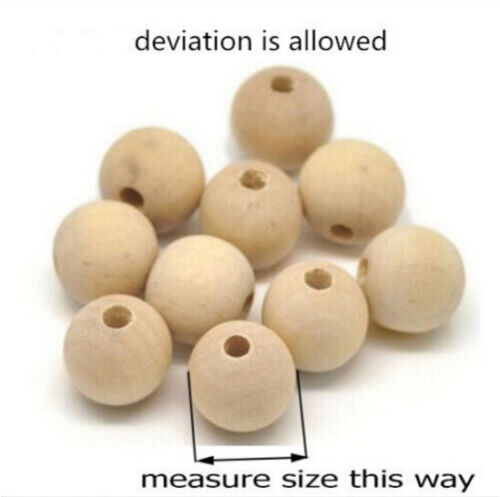660PCS Natural Round Wood Spacer Wooden Beads DIY Craft Jewelry Earring Bracelet