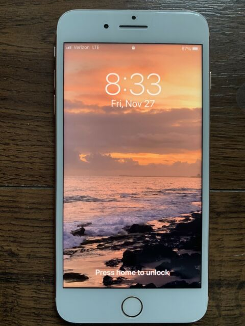 Excellent Condition - iPhone 8+ plus unlocked 256gb rose gold Verizon Clean ESN