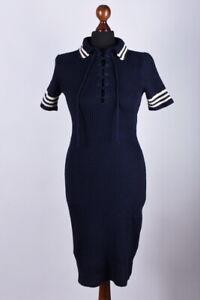Bnwt-Femme-Ralph-Lauren-long-a-manches-courtes-robe-taille-S