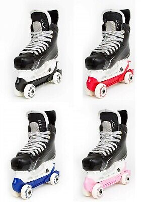 RollerGard Skate Guards with Wheels Turns Ice Hockey Skates to Rollers