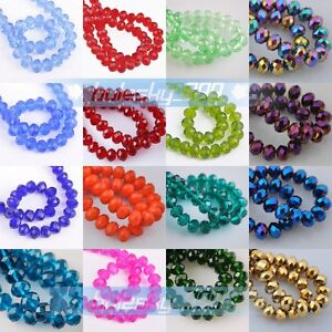 Wholesale-100pcs-6x4mm-Rondelle-Faceted-Glass-Crystal-Spacer-Loose-Beads-Charms