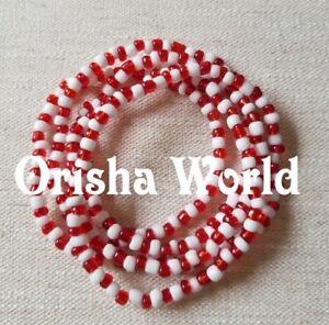 18-034-Collar-Eleke-Orisha-Shango-Chango-Sango-Santeria-Ifa-Lucumi-Lukumi-Yoruba
