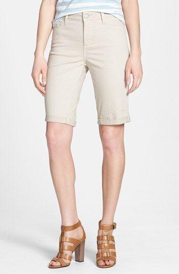 NYDJ Not Your Daughters Jeans Briella Roll cuff bermuda shorts Sand Dollar 12