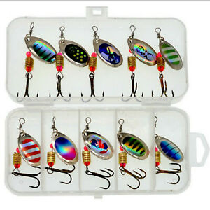 Fishing Lures Metal Spinner Baits Bass Tackle Crankbait Trout Trout Spoon W Y9K4
