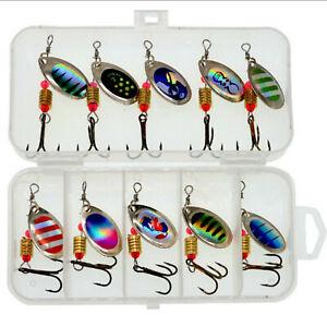 10Pcs-Metal-Fishing-Lures-Barra-Spinner-Tackle-Bait-Saltwater-Hook-Trout-Salmon