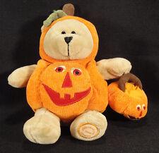 STARBUCKS Bearista Bear Halloween Pumpkin Costume 2008 77th Ltd Holiday Tags
