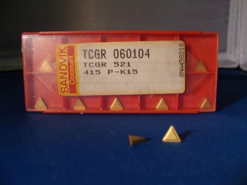 SANDVIK Coromant TCGR 521 06 01 04 015 P-K15 Lathe Carbide Inserts 10 Pcs New