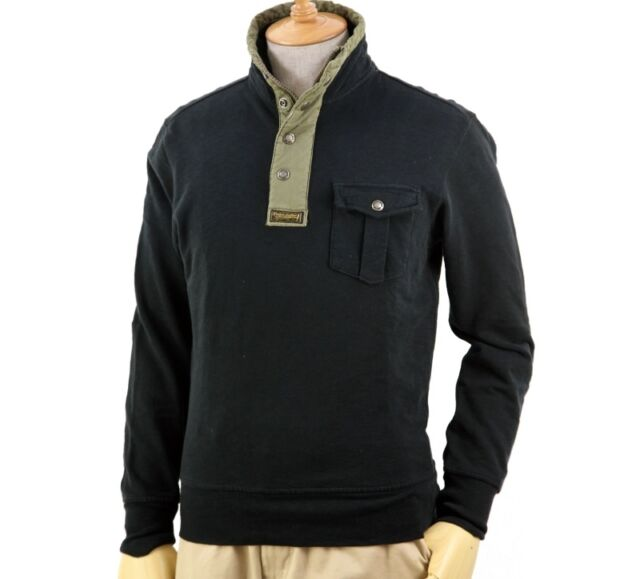 Polo Ralph Lauren French Terry Mockneck Pullover in Size Large in Black