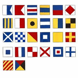 USA SHIPPING - MARITIME Signal Code FLAG Set - Total 26 flag - Total 28 Flag