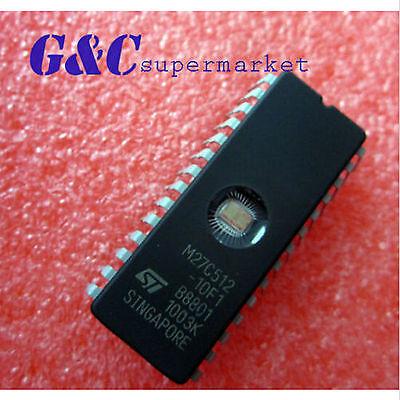 1PCS IC 27C512 CDIP-28 ST NEW M27C512-10F1