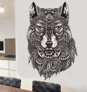 Amical Motifs Décoratifs Wolf Wall Art Vinyle Stickers Autocollants Murales Transferts Loups-afficher Le Titre D'origine