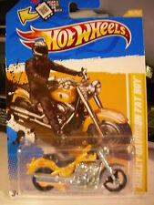 Hot Wheels Harley-Davidson Fat Boy 2012 New Models Yellow